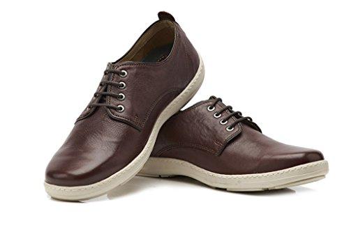 Brent Shoes Men's Burgundy Esprite Leather Casuals UK 42 / IND 08