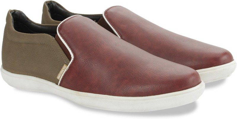 U.S. Polo Assn. Slip On Loafers(Brown, Maroon)