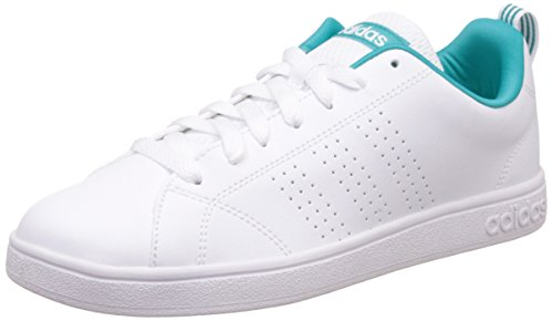 adidas neo Women's Advantage Clean Vs W Ftwwht, Ftwwht and Shogrn Leather  Sneakers – 6