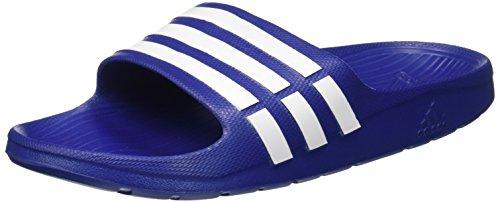 adidas Men's Duramo Slide Blue and White Flip-Flops and House Slippers – 7 UK /India (40.67 EU)