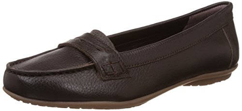 Hush Puppies Women's Ceil Penny Brown Leather Loafers and Mocassins – 7 UK/India (40 EU)(5544942)