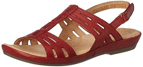 Hush puppies Women's Cana-Bk Strp RedLeather Fashion Sandals – 4 UK/India (37 EU)(5645926)