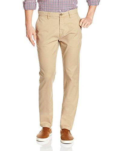 US Polo Association Men's Casual Trousers (8907378963765_USTR6522_32W x 34L_Khaki)