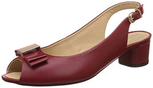 Hidesign Women's Lolo Red Leather Fashion Sandals – 6.5 UK/India (40 EU)