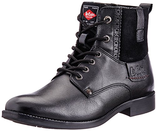 Lee Cooper Men's LC2026 Black Leather Boots – 11UK/India (45EU)