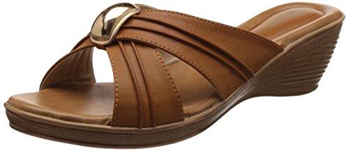 Bata Women's Lush Tan Light Brown Slippers – 6 UK/India (39 EU)(6713905)