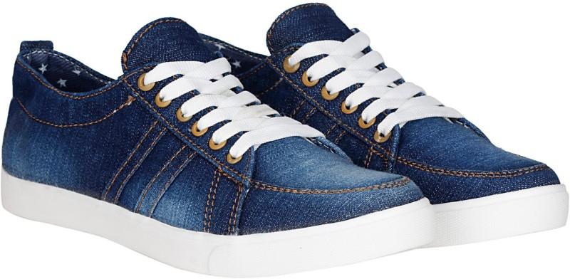 Kraasa Premium Denim Sneakers, Canvas Shoes, Casuals, Party Wear(Navy)