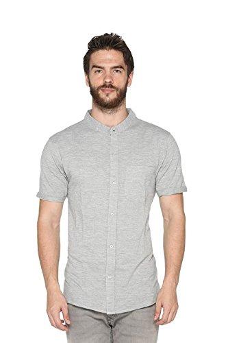 Harbor N Bay Mens Premium Pique Knit Solid Shirt(OS-1100Grey, XXX-Large)