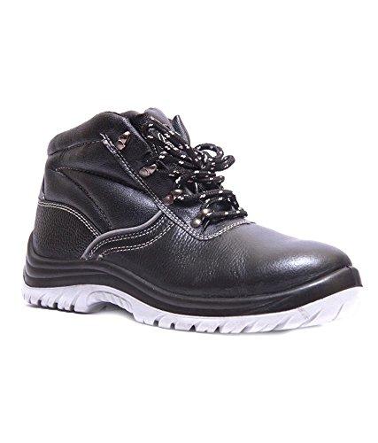 Hillson Alien-9-BLK Hi-Ankle Safety Shoe, Size-9 UK, Black