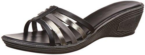 Lavie Women's 750 Slipon Black Multi Fashion Sandals – 5 UK/India (38 EU)