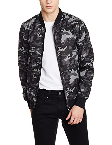 Flying Machine Men's Polyester Jacket (8907259256948_FMJK0493_X-Large_Black)