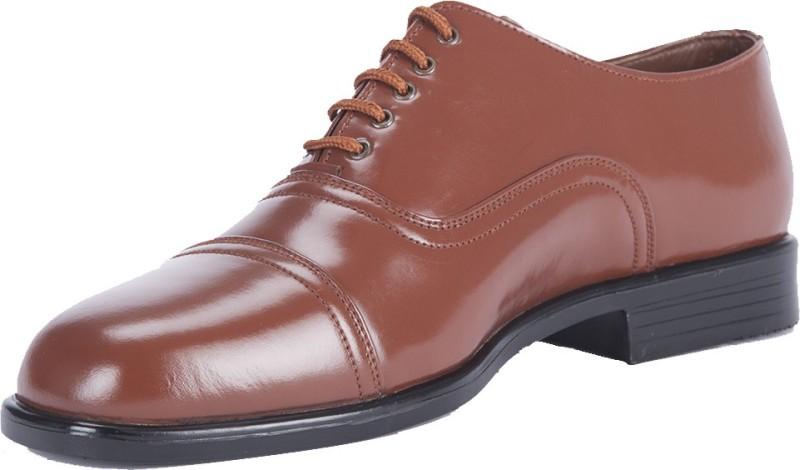 Alden Shoes Police Uniform Lace Up Shoes(Brown, Tan)