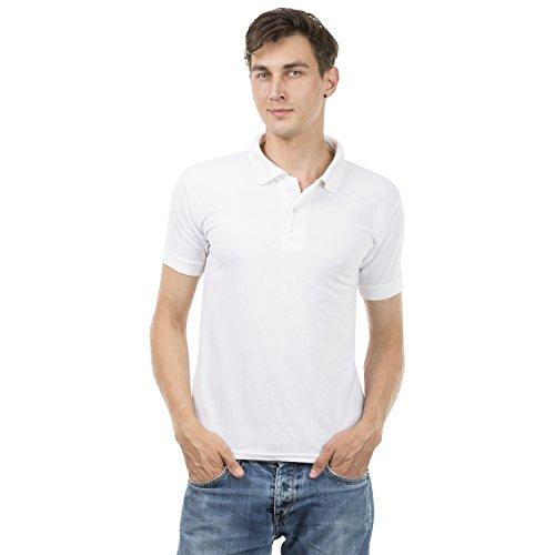 iberrys Men's 100% Cotton Collar Polo White Tshirt (1)