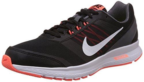 Nike Men's Air Relentless 5 MslBlack, White, Hyper Orange and Dark Grey Mesh Running Shoes -8 UK/India (42.5 EU)(9 US)
