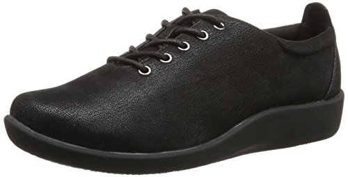 Clarks Women's Sillian Tino Black Synthetic Nubuck 6 D – Wide