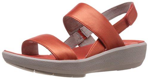 Clarks Women's Wave Shine Grenadine Leather Flip-Flops and House Slippers – 5.5 UK