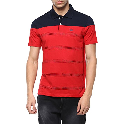 Ajile by Pantaloons Men's Poly Cotton T-Shirt_Dark Red_L