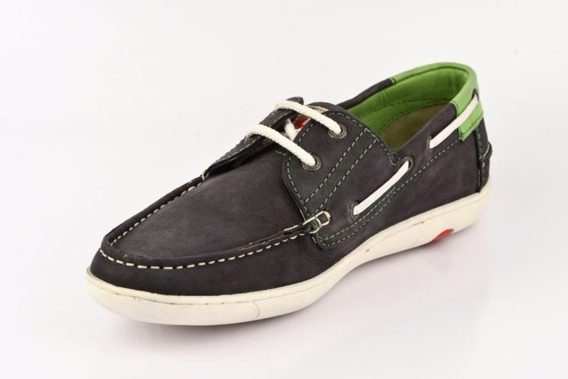 Lee Cooper Men Boat Shoes(Navy, Green)