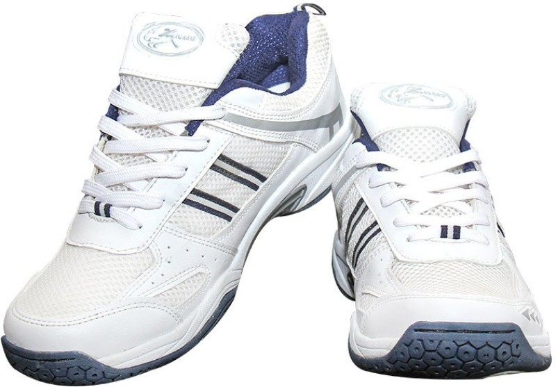 Zigaro Badminton Shoes(White, Navy)