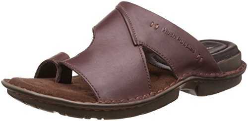Hush Puppies Men's New Decent Toe Ring Brown Leather Hawaii Thong Sandals – 10 UK/India (44 EU)(8744939)