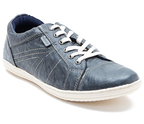 Red Tape Men's Gray Leather Sneakers – 7 UK/India (41 EU)