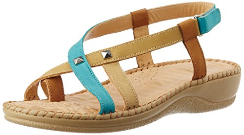 Dr. Scholl Women's Elisa Toe Ring Natural Multi-Colour Leather Fashion Sandals – 6 UK/India (39 EU) (6630078)