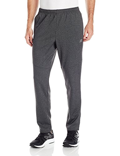 New Balance Men's  Synthetic Track Pants (889969030170_MP63958_X-Large_Black Heather)