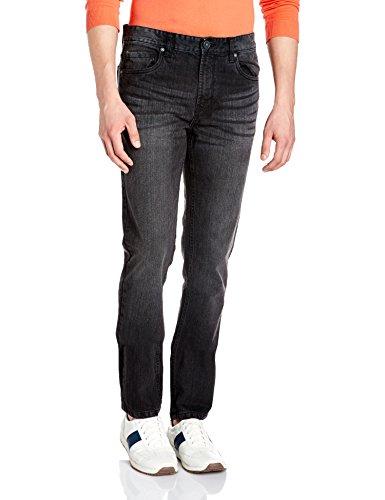 Cherokee Men's Straight Fit Jeans (8907542391455_270734127_BLACK-MS_36_IN-32)