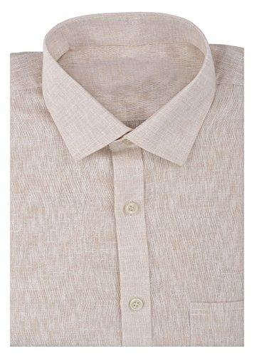 Kalrav Fashion Men's Formal Shirt_KMSH078_Beige_S
