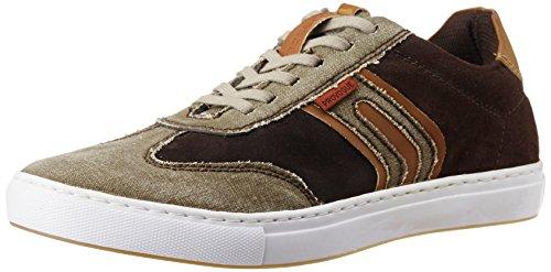 Provogue Men's Brown Canvas Sneakers- 9 UK/India (43 EU) (10 US)