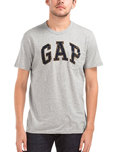 GAP Men's T-Shirt (142201500030_32337857900_Large_Heather Grey)