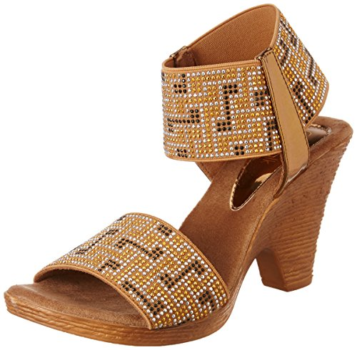 Catwalk Women's Bronze Fashion Sandals – 7 UK/India (39 EU)