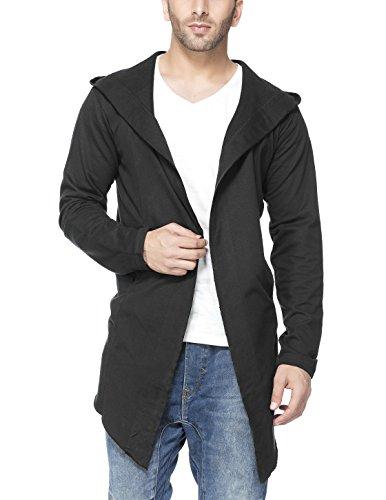 Tinted Men's Cotton Sinker Hooded Cardigan