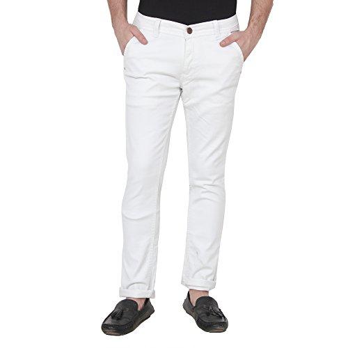 XEE Men's White Skinny Fit Jeans