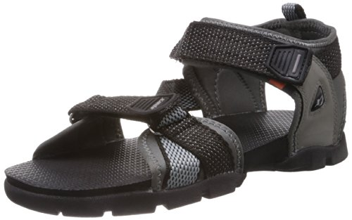 Sparx Men's Black and Grey Athletic and Outdoor Sandals – 9 UK/India (43 EU)(SS-105)