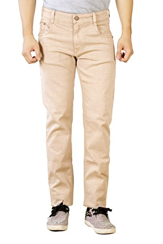 Studio Nexx Men's Regular Fit Jeans (Pastel Brown, Size- 44)