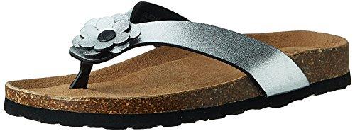 CL by Carlton London Women's Palloma Silver Fashion Sandals – 5 UK/India (38 EU)