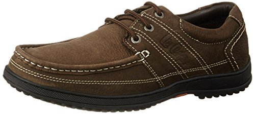 Lee Cooper Men's Brown Leather Boat Shoes – 11 UK/India (45 EU)
