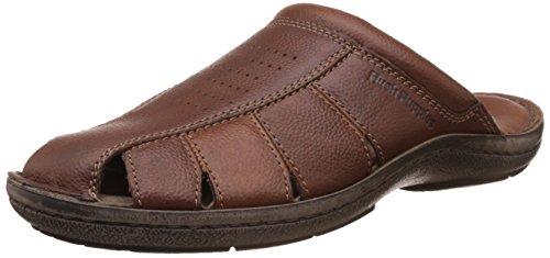 Hush Puppies Men's New Decode Close Mul Brown Leather Hawaii Thong Sandals – 7 UK/India (41 EU)(8744908)