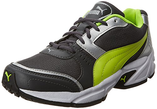 Puma Men's Argus DP Asphalt, Safety Yellow and Puma Silver Running Shoes – 10 UK/India (44.5 EU)