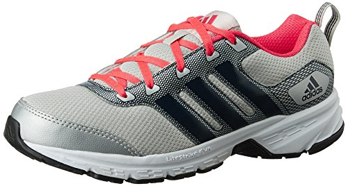 adidas womens alcor 10 w silver blue and red mesh running shoes 5 uk -
