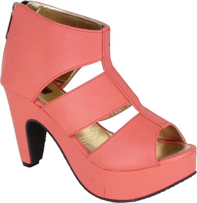 authentic vogue women pink heels -