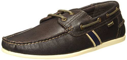 red tape mens brown leather boat shoes 9 ukindia 43 eu -
