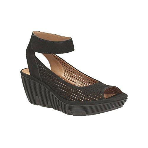 clarks womens clarene prima nubuck black leather fashion sandals 35 -
