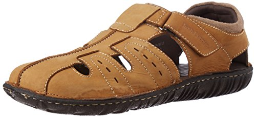 Hush Puppies Men's Harlet Fisherman Beige Leather Athletic and Outdoor Sandals – 8 UK/India (42 EU)(8648912)
