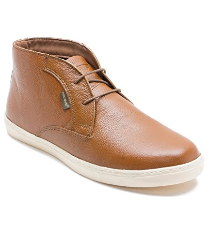 Red Tape Men's Tan Leather Chukka Boots – 9 UK/India (43 EU)