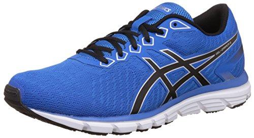 Asics Men's Gel-Zaraca 5 Electric Blue, Black and Silver Running Shoes – 6 UK/India (40 EU)(7 US)
