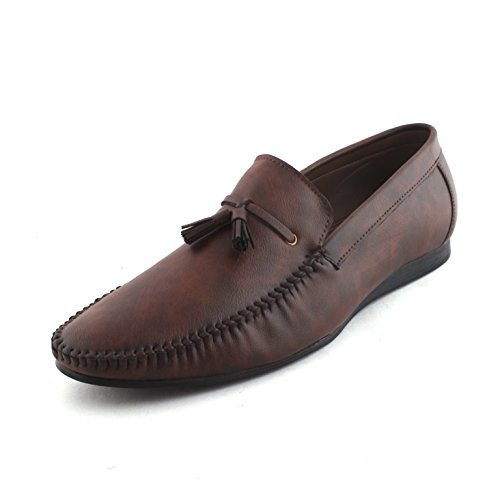 Vebero Men Big Size Brown Loafers Synthetic Casual