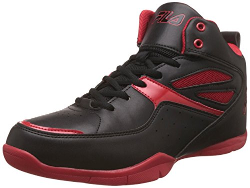 Fila Men's Darbo Black and Red Basketball Shoes – 9 UK/India (43 EU)