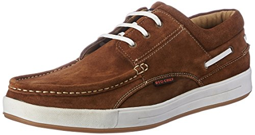 Red Chief Men's Rust Leather Boat Shoes – 9 UK/India (43 EU) (RC1363A 022)